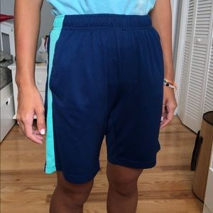 Dark blue athletic shorts